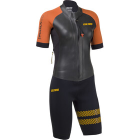 Colting Wetsuits Swimrun Go Combinaison Femme, black/orange